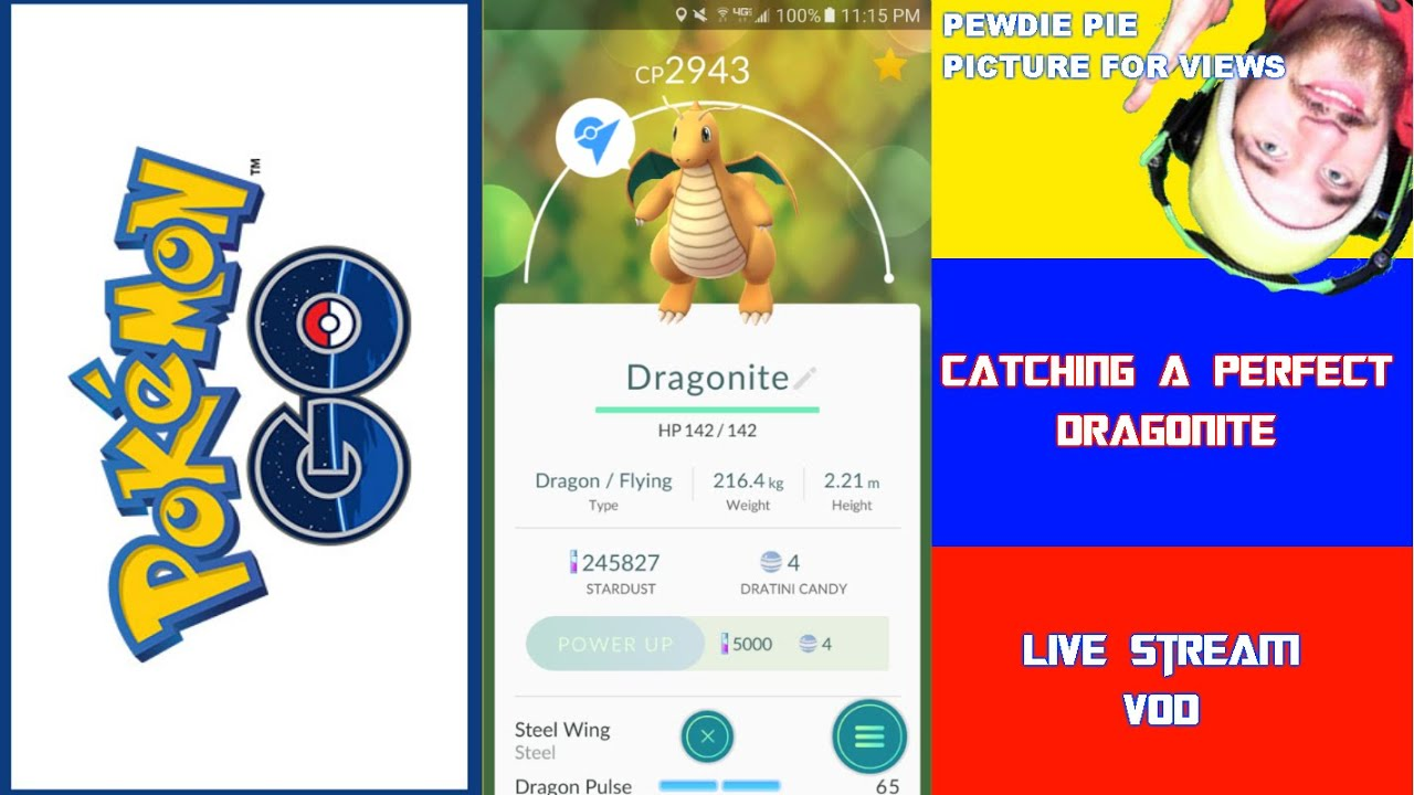 pok mon go hunting for a perfect iv wild dragonite youtube. Black Bedroom Furniture Sets. Home Design Ideas