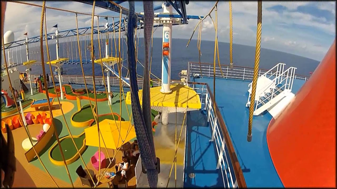 Carnival Breeze Rope Course First Person POV Hat Mount - YouTube
