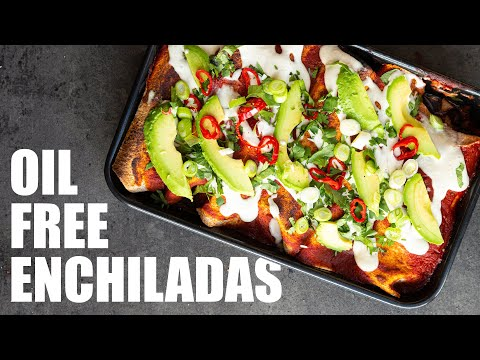 VEGAN ENCHILADAS RECIPE | OIL FREE