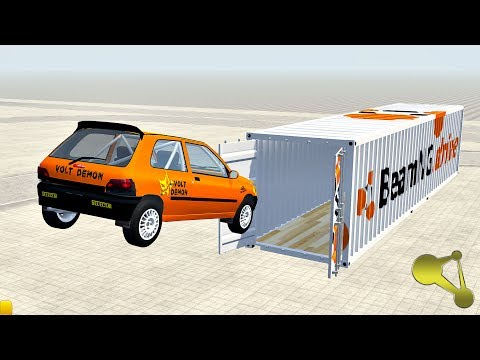 Open Cargo Doors Trailer Jumps And Stunts (Container) BeamNG.Drive