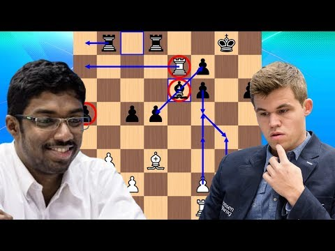 Baskaran Adhiban vs Magnus Carlsen | 2018 Tata Steel Chess Tournament
