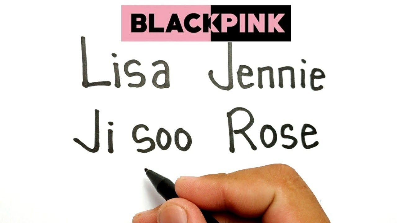 KEREN, cara menggambar kata lisa, ji soo, jennie, rose , menjadi anggota kpop blackpink