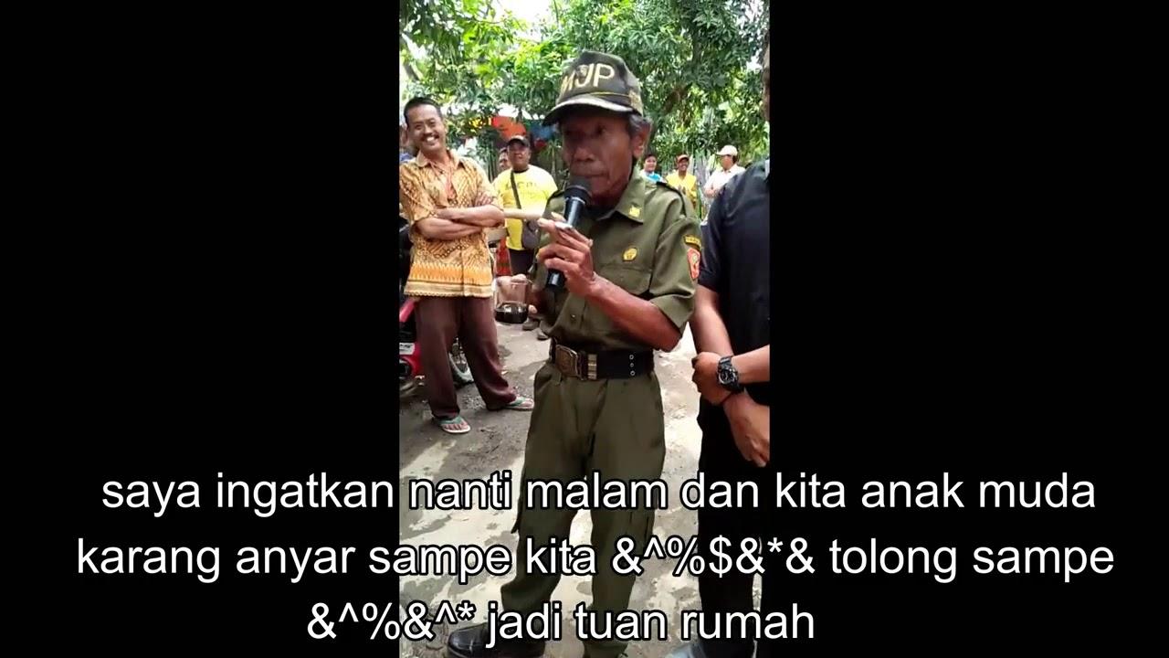 Lucu Gokil Ngakak Pidato Sambutan Hansip Sukra Wetan
