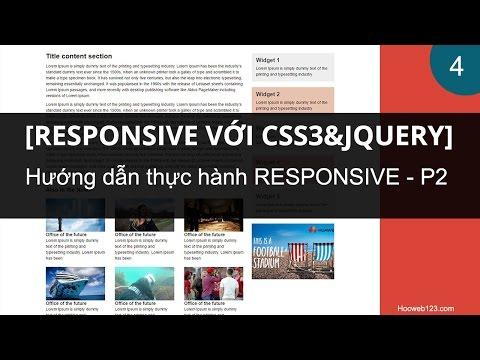 Hướng Dẫn Responsive Website (Làm Website Chạy Trên đa Thiết Bị) - Phần 2