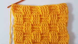Tığişi Sepet, Hasır Örgü /Crochet Basket Stitch