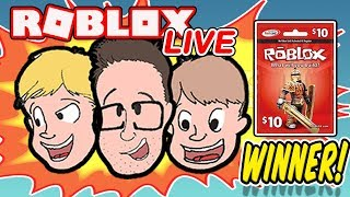 WINNER Roblox Giveaway LIVE | New Game Every 10 Minutes! |Family Friendly | Schlamaddy