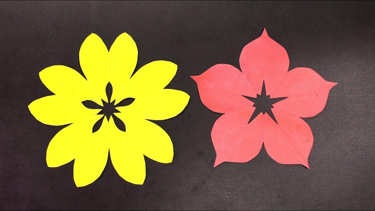 Famous 5 Petal Paper Flower Adornment Best Evening Gown