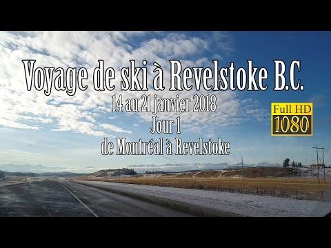 Voyage de ski à Revelstoke , 14 au 21 Janvier 2018 Jour 1 (De montréal à Revelstoke)