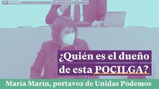 María Marin en la MOCIÓN DE CENSURA: ¿Quiénes son los dueños de esta POCILGA?
