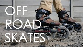MOUNTAIN BIKES TRAILS AND TRACKS ARE POSSIBLE ON INLINE SKATES //POWERSLIDE KAZE SUV REVIEW// VLOG46