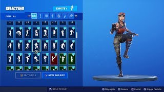 (Renegade Raider Skin Showcase!) With all my Fortnite Emotes!