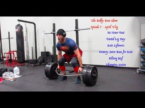 The Robby Row Show Ep 7 - April Vlog - 36 HR Fast- Fasted Workout - Keto  Leftovers - 90 Foot Pitches