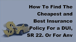 2017 Motor Insurnace   Cheap and  Best Motor Insurance For DUI, SR22 Or Bad Driving Habits