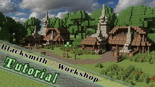 Minecraft Tutorial: How To Build A Medieval Blacksmith / Workshop!