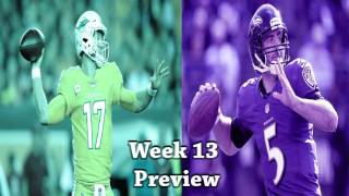 NFL Week 13 2016 Miami Dolphins vs Baltimore Ravens Preview