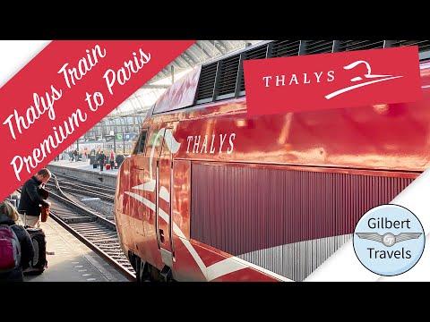 First High Speed Train: Thalys Premium Class Amsterdam to Paris at 300KPH!