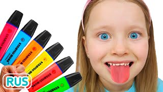 Милли играет с волшебными карандашами - учим цвета | Песня для детей с Милли и Семья