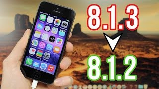 Downgrade iOS 8.1.3 vers 8.1.2 pour iPhone, iPod touch et iPad