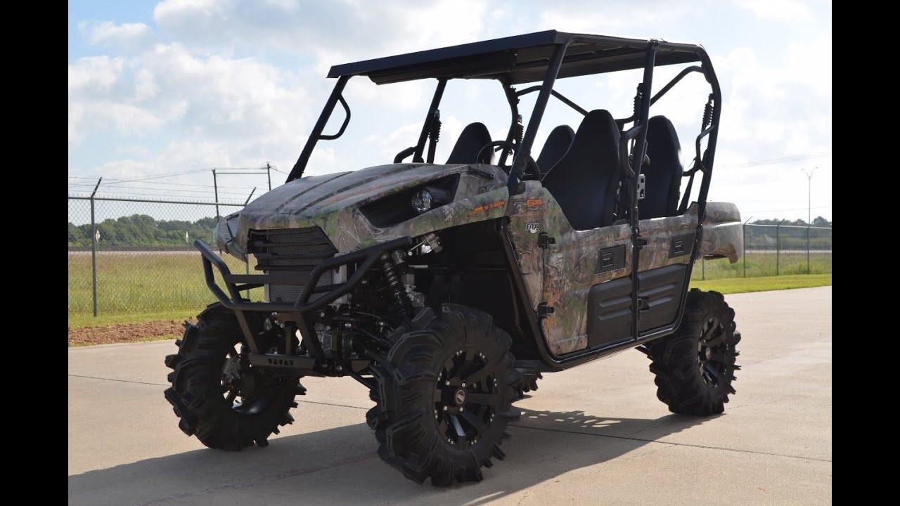 $15,944: 2015 kawasaki teryx4 camo with lift steel roof and sound