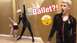 James Charles learns BALLET with Lilly K and Abby Lee Miller! What?!?! Totally UNSEEN FOOTAGE!