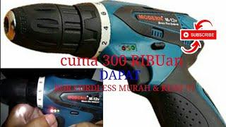 Bor kecil kuat & Murah + AUTO STOP & SPEED CONTROL ( 0 -700rpm ) - Cordless mini drill