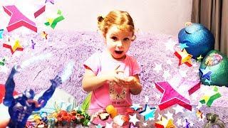 Lots Of Candies Kinder Joy surprise eggs opening Spiderman Киндер сюрприз
