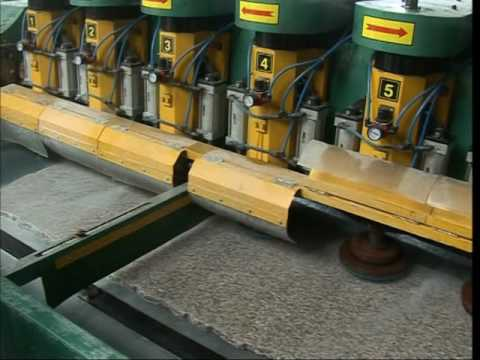 Multi head automatic surface polishing machine for marble and granite slab