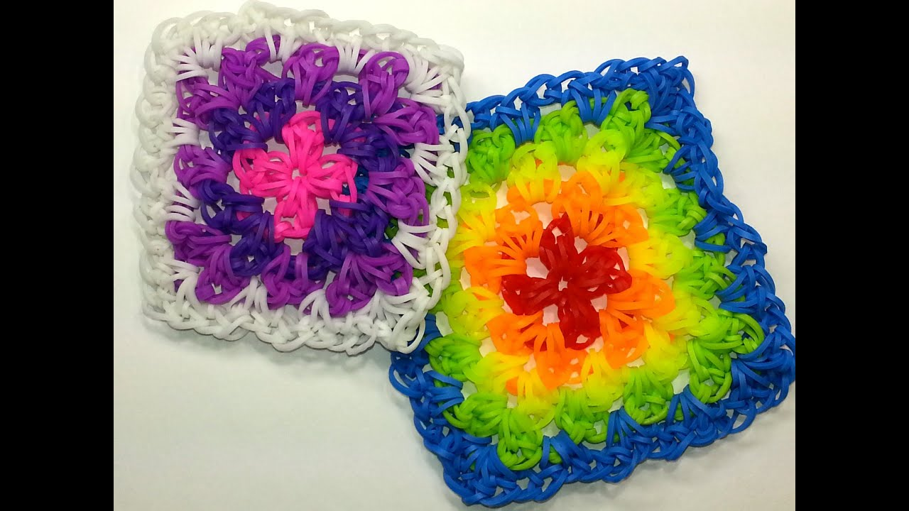 Granny Square Tutorial By Feelinspiffy Hook Only Loom
