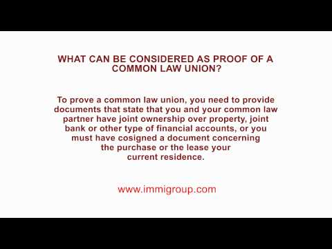 what-can-be-considered-as-proof-of-a-common-law-union?
