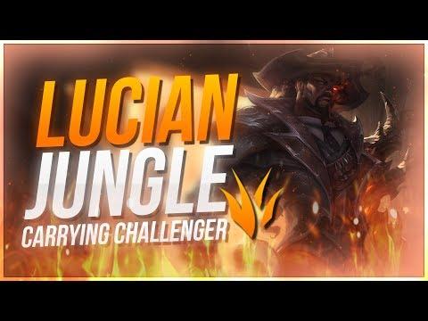 CARRYING 1000 LP CHALLENGER GAME LUCIAN JUNGLE OP  League of Legends