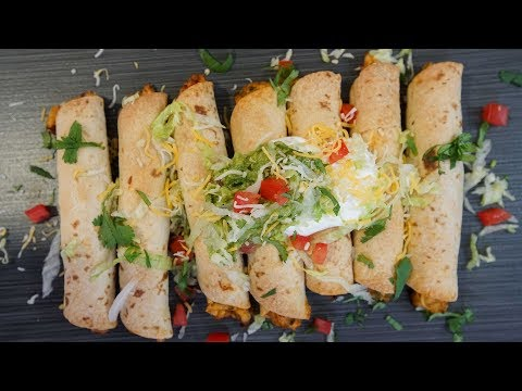 Baked Chipotle Chicken Taquitos | SAM THE COOKING GUY