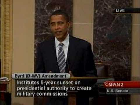 Obama on Senate Floor