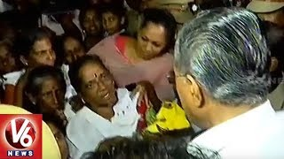 Kerala CM Pinarayi Vijayan Visits Flood Affected Areas And Relief Camps   V6 News