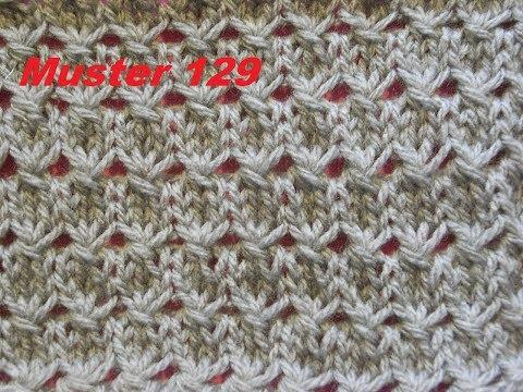 Youtube-Tutorial: Muster 129 für Socken -Mütze*Tutorial *Strickmuster Anleitung für Anfänger