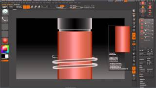 Threaded Pill Bottle with Threaded Cap with ZBrush