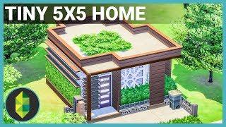 Tiny 5x5 Home  No Moveobjects  - The Sims 4 House Build