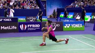 yonex french open 2017   badminton qf m3 ws   tai tzu ying vs ratchanok intanon