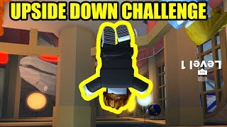 Playing Jailbreak UPSIDE DOWN!!! *IMPOSSIBLE CHALLENGE* | Roblox Jailbreak