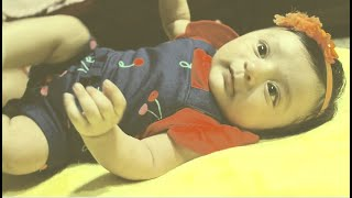 Cute little baby leona 3rd months video and pic