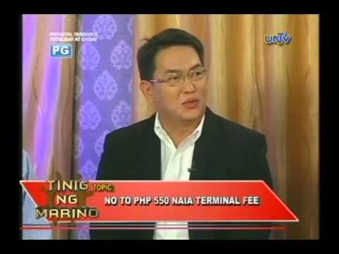 No to Php 550 NAIA Terminal Fee