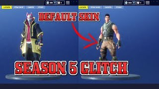How to Equip Default Skin Fortnite Battle Royale Season 5
