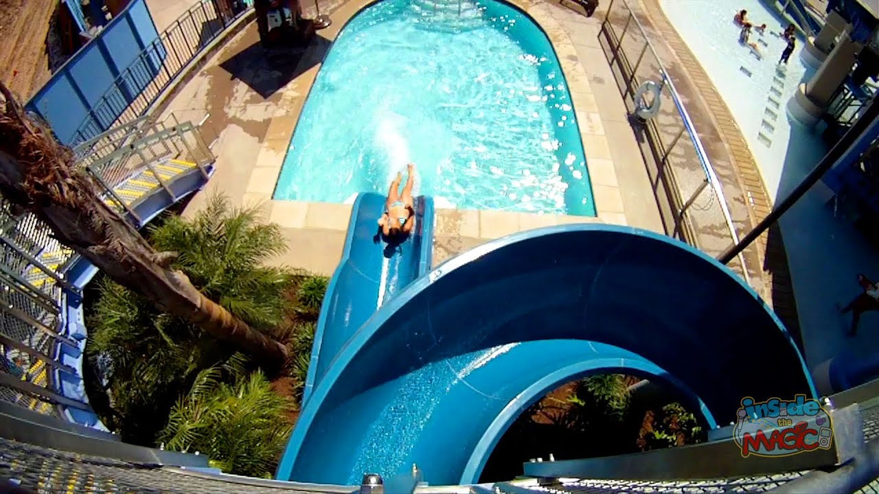 Disneyland Hotel Pool Monorail Water Slides - Pov Ride
