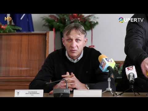 Conferința de presă FC Argeş- este prezentat Emil Săndoi, noul tehnician al alb-violeților.