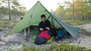 Tarp Shelter like a Tent - Overnight Camp