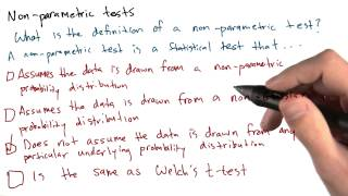Definition of Non-Parametric Test - Intro to Data Science