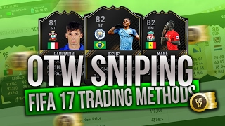 fifa 17 sniping otw cards during manchester city vs bournemouth insane trading method