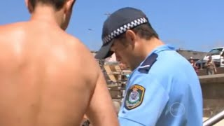 Naked Man Pushes Kids Over | Bondi Rescue