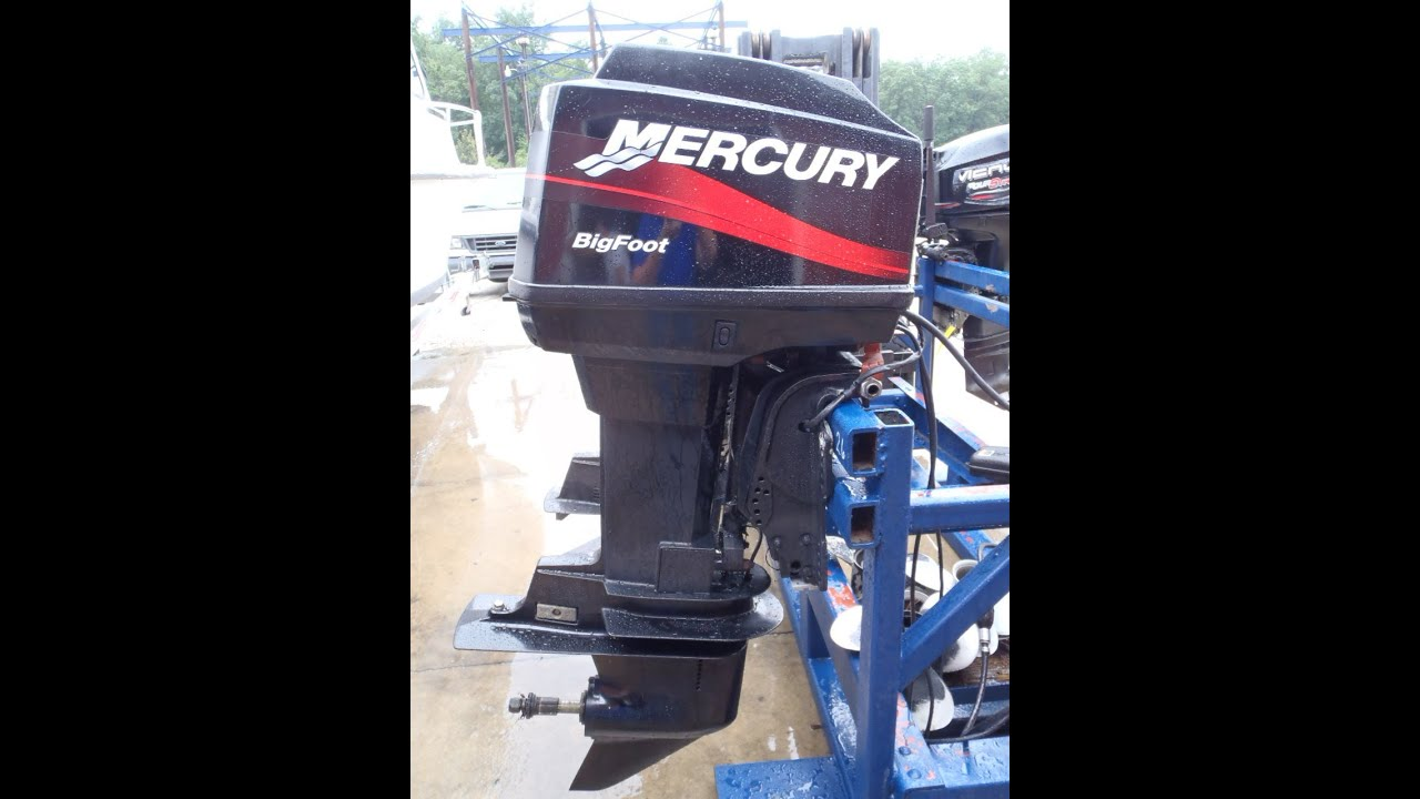 hight resolution of 6m3910 used 2002 mercury 60elpto 60hp bigfoot 2 stroke outboard boat motor 20 shaft youtube