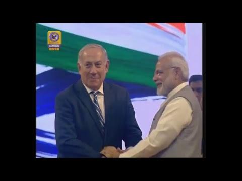 PM Narendra Modi with Israel PM Benjamin Netanyahu visit Gujarat