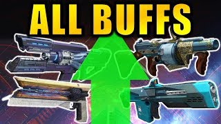 Destiny 2: ALL EXOTIC WEAPON BUFFS! | Warmind Expansion